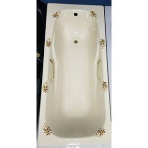 Smalearl Viterbaese 義大利原裝進口鋼板琺瑯浴缸-新古典印花170*75cm