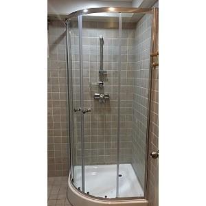 gedy 奈米強化玻璃圓弧型4片淋浴門W90~W120Ccm