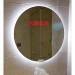 Gedy 訂製正圓形+LED暖白光觸控鏡+除霧+鏡面耐蝕
