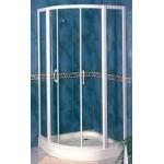 GEDY 圓弧型1/4 白框&銀框淋浴門