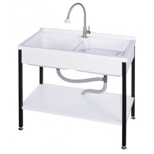ST51000實心人造石活動洗衣槽-雙槽W100