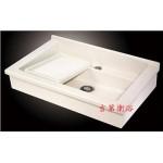 人造石掛壁式活動洗衣槽w80cm特價9000元