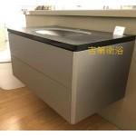 90CM頂級鋼琴烤漆防水浴櫃+進口人造石檯面