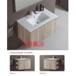 1367KCB米蘭淺麥一體盆+防水木紋浴櫃w62~w122cm