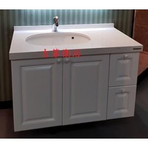 102cm石英石檯面+新古典防水浴櫃組+ZAZZERI面盆龍頭特價 33000