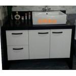 w115cm 現代造型石英石檯面浴櫃組特價 29000元