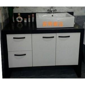 w115cm 現代造型石英石檯面浴櫃組特價 30000元