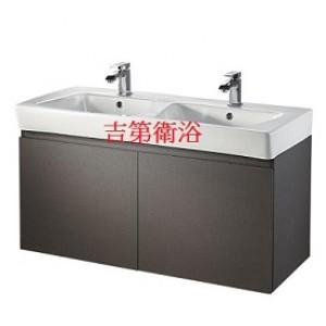 110cm一體瓷盆雙槽+防水下櫃特價$21500