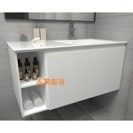 100cm  西班牙Roca一體磁盆+鋼烤防水浴櫃特價 $16000元