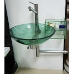 TWM 040玻璃盆龍頭組+玻璃置物櫃一組特價$7000元