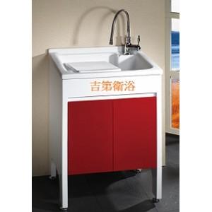 實心活動人造石洗衣槽+防水下櫃W50*D51cm