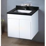 黑水晶石英石檯面浴櫃組630