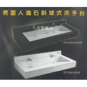 時尚人造石洗手檯:白色/黑色/黑+白