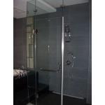 L型無框蒸氣淋浴門強化玻璃8mm